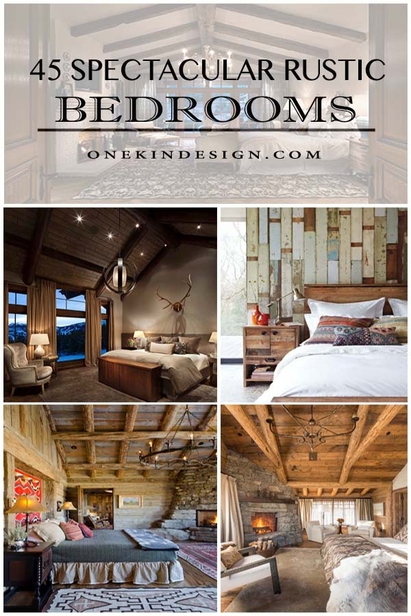 45 Absolutely spectacular rustic bedrooms oozing with