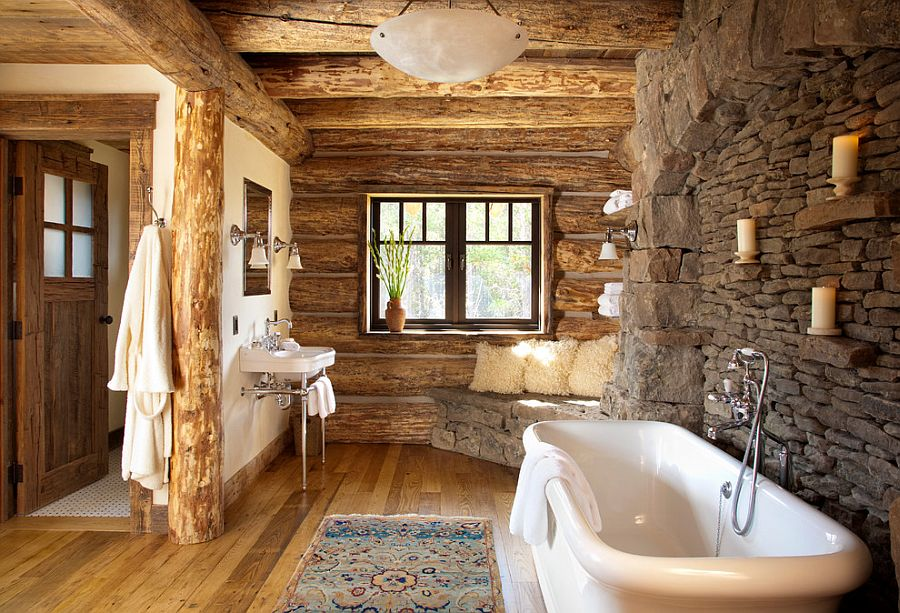 30 Exquisite & Inspired Bathrooms With Stone Walls   TickAbout