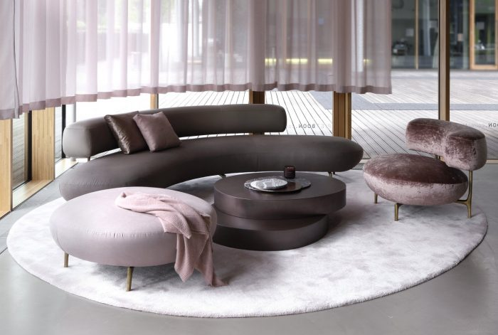 Curved Sofas For A Modern Living Room Design
