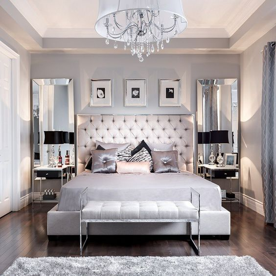 13 Beautiful Gray Bedroom Ideas to Create an Oasis | TickAbout