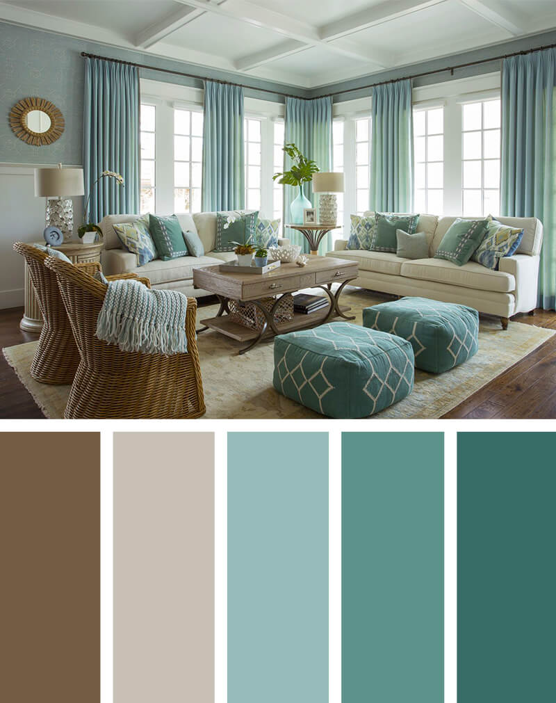 11 Best Living Room Color Scheme Ideas and Designs for 2018 | TickAbout