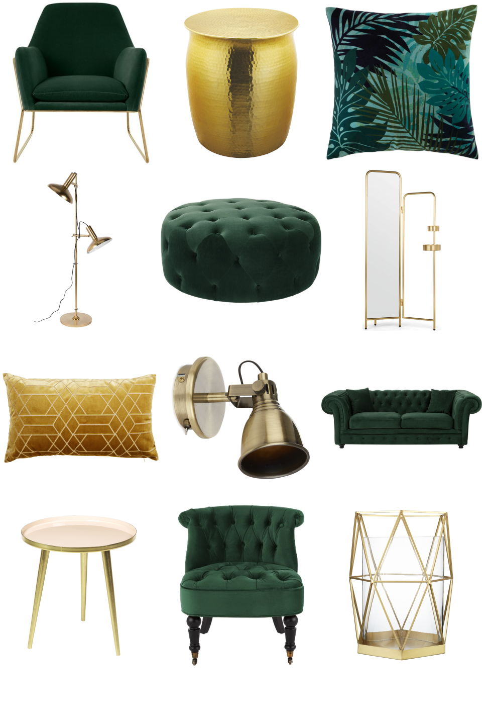 Www Furnishful Co Uk Luxe Green And Gold Living Room