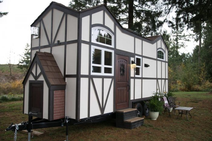 Whimsical tiny house features distinctive Tudor styling | TickAbout