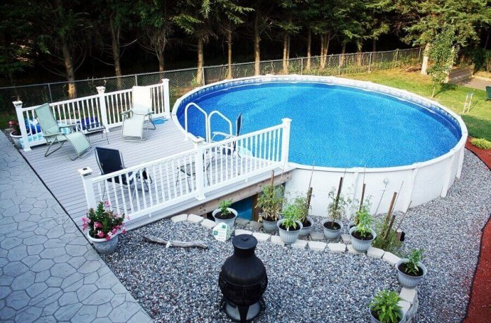 28 Creative Ideas For Landscaping Around Above Ground Pool Tickabout
