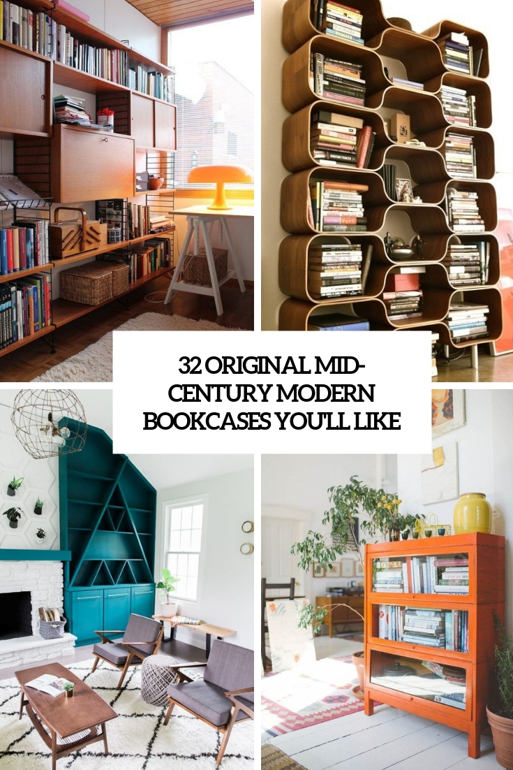 32 Original Mid Century Modern Bookcases You Ll Like Tickabout
