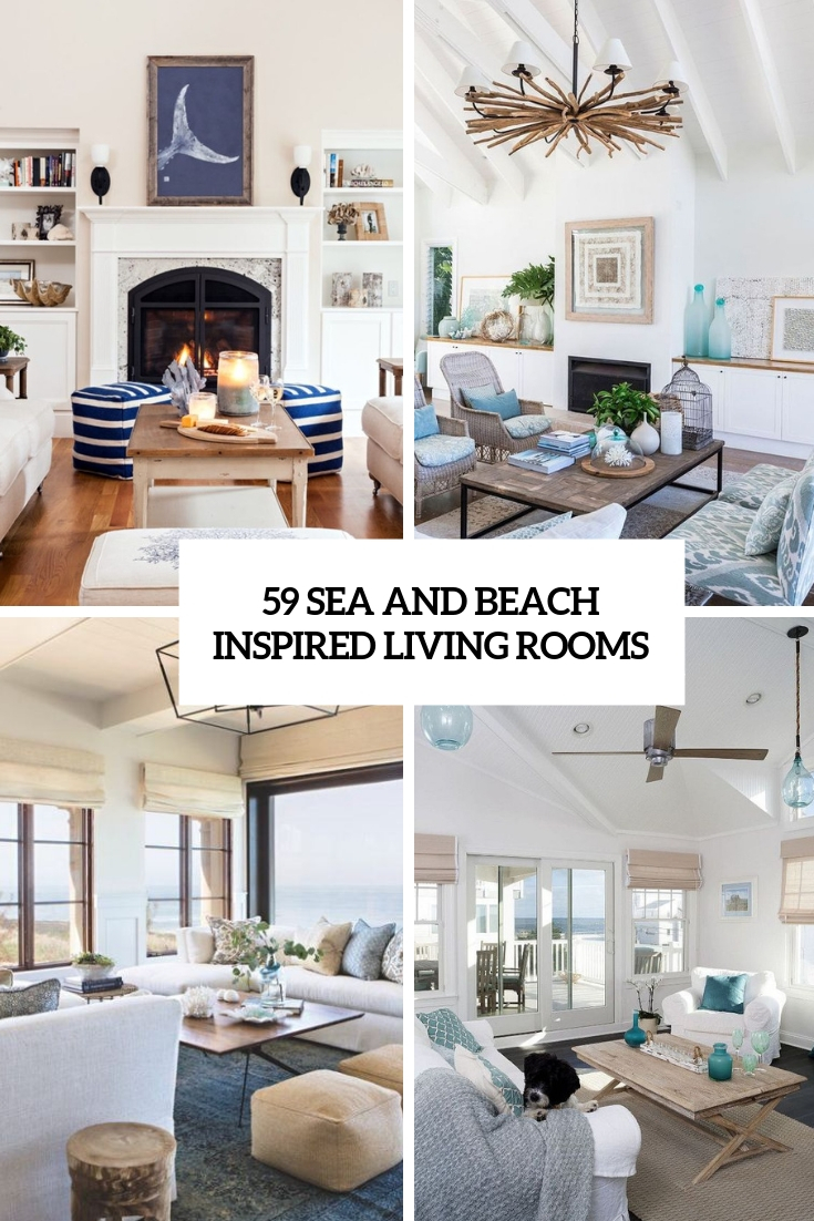 59 Sea And Beach Inspired Living Rooms | TickAbout