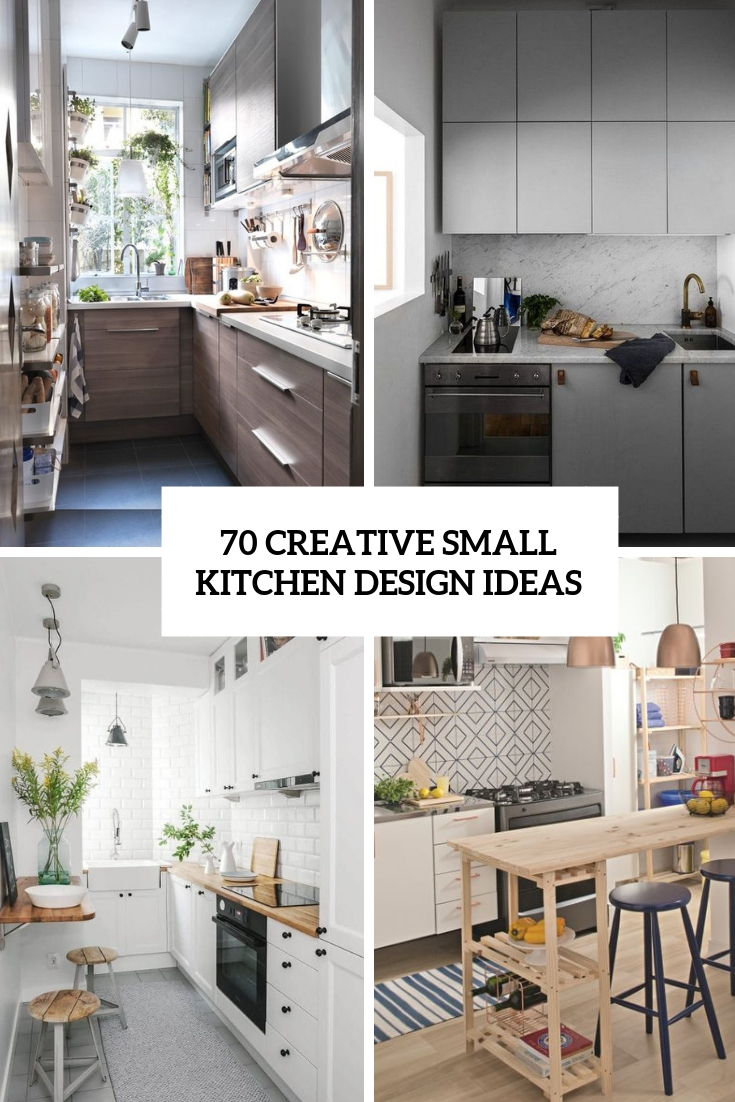 70 Creative Small Kitchen Design Ideas | TickAbout