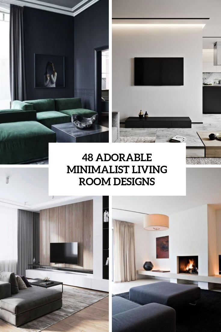 48 Adorable Minimalist Living Room Designs   TickAbout